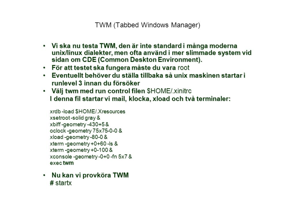 TWM (Tabbed Windows Manager)