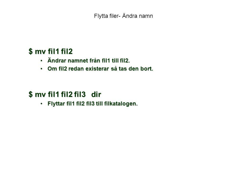 Flytta filer- Ändra namn