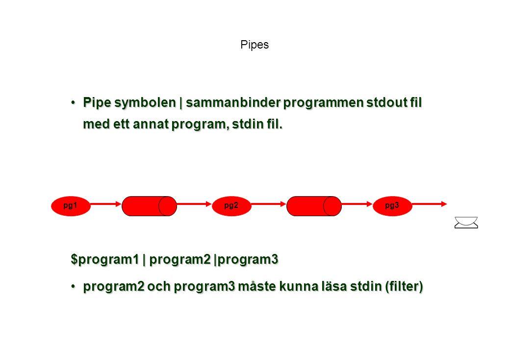 $program1 | program2 |program3