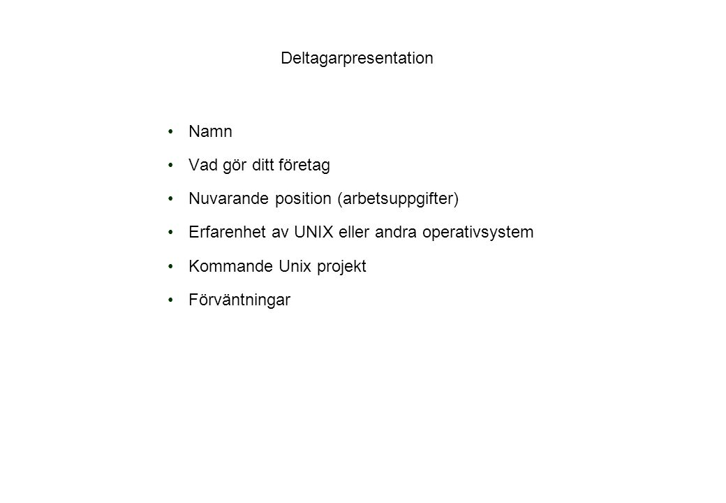 Deltagarpresentation
