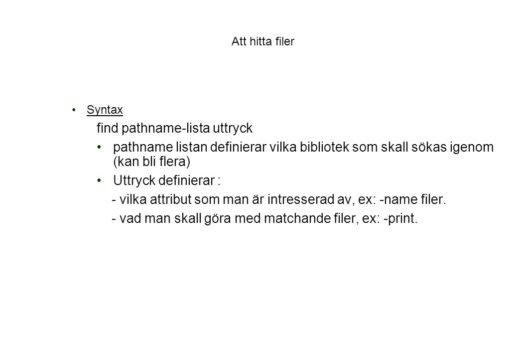 find pathname-lista uttryck