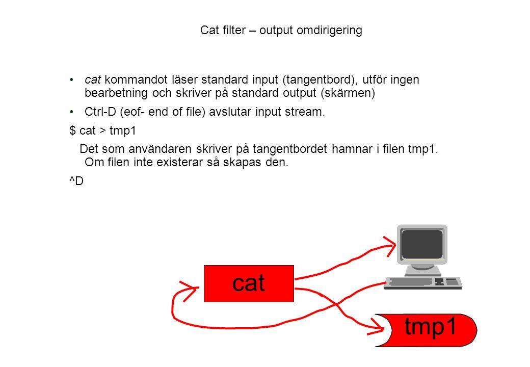 Cat filter – output omdirigering