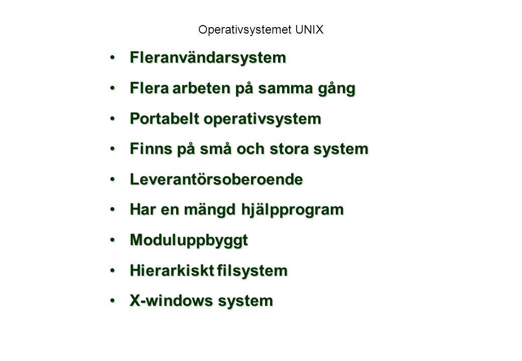 Operativsystemet UNIX