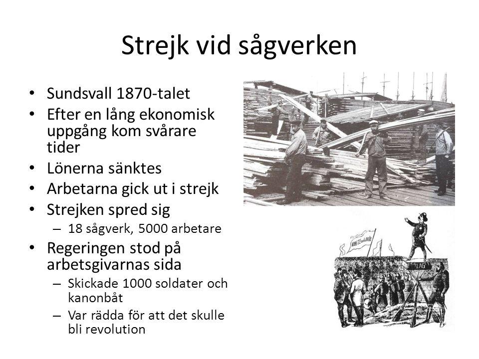 Strejk vid sågverken Sundsvall 1870-talet