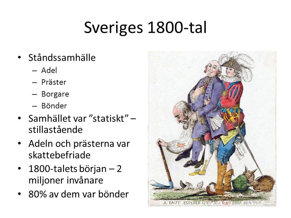 Sveriges 1800-tal Ståndssamhälle