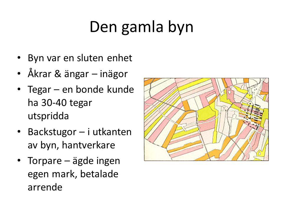 Den gamla byn Byn var en sluten enhet Åkrar & ängar – inägor