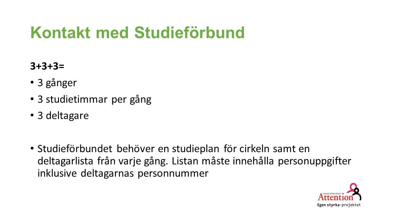 Kontakt med Studieförbund