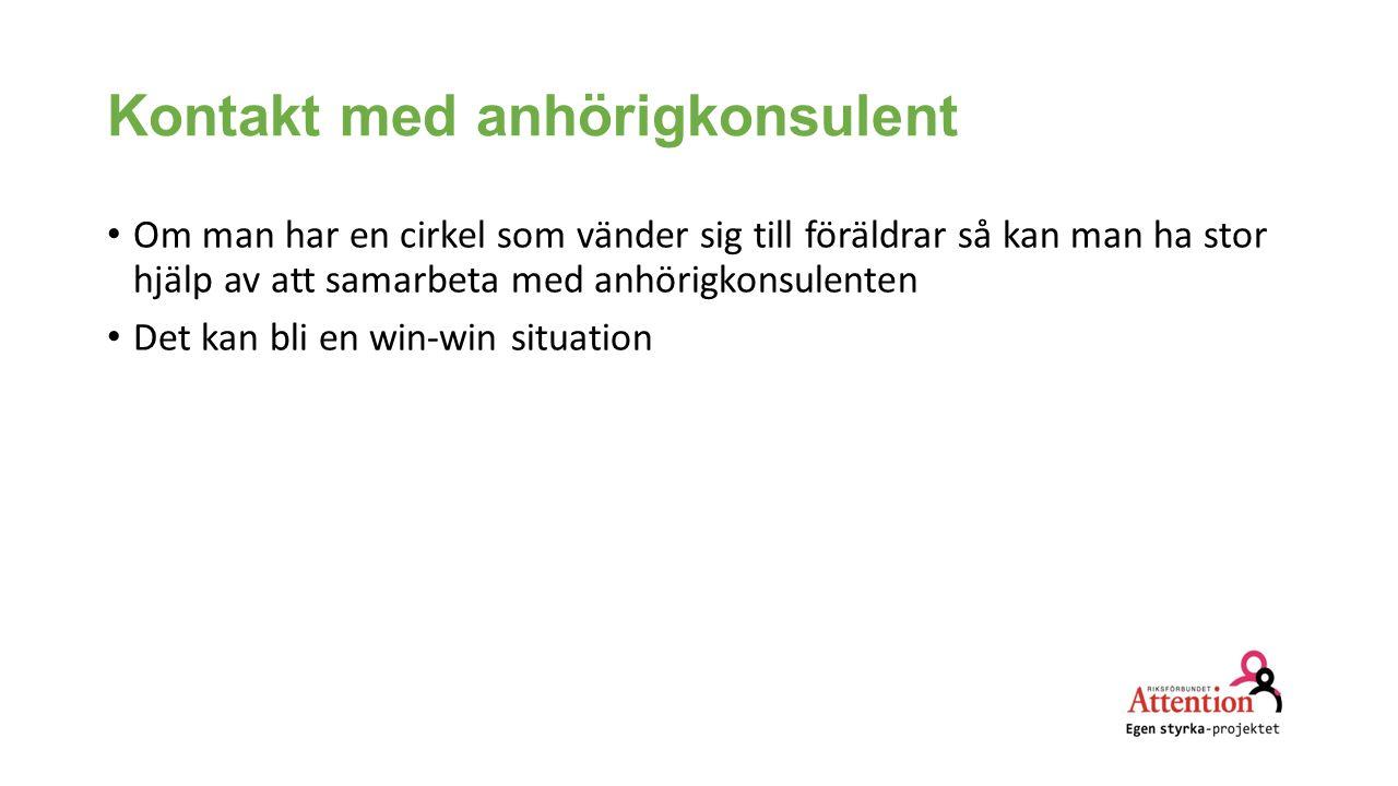 Kontakt med anhörigkonsulent