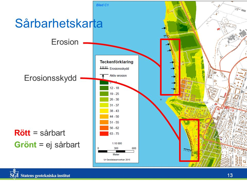 Sårbarhetskarta Erosion Erosionsskydd