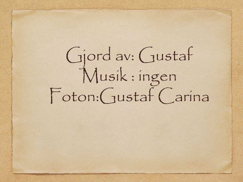 Gjord av: Gustaf Musik : ingen Foton:Gustaf Carina