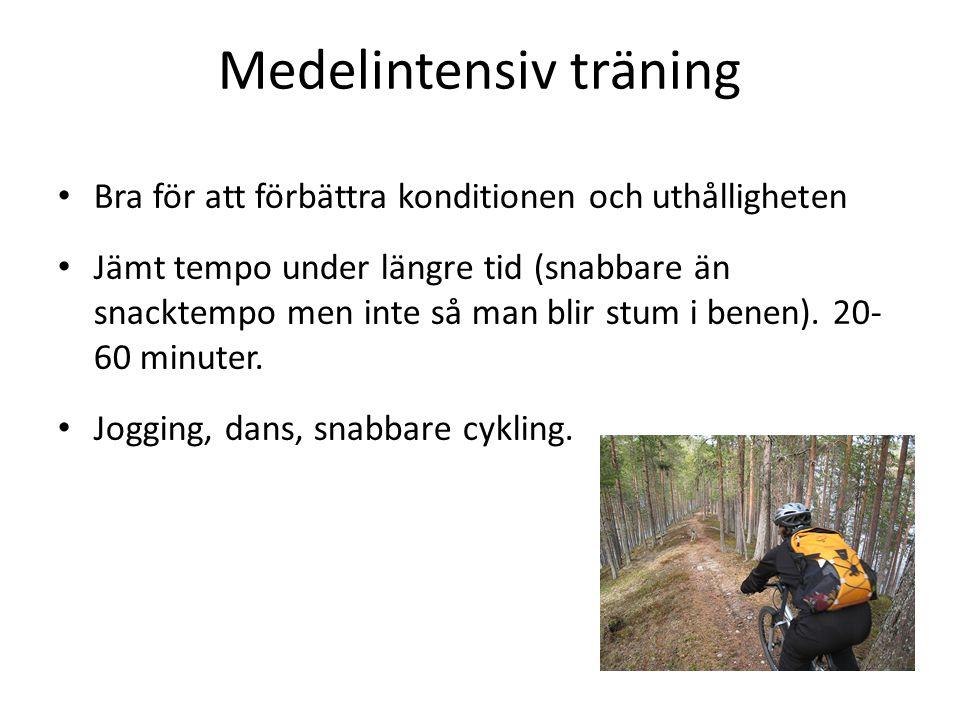 Medelintensiv träning