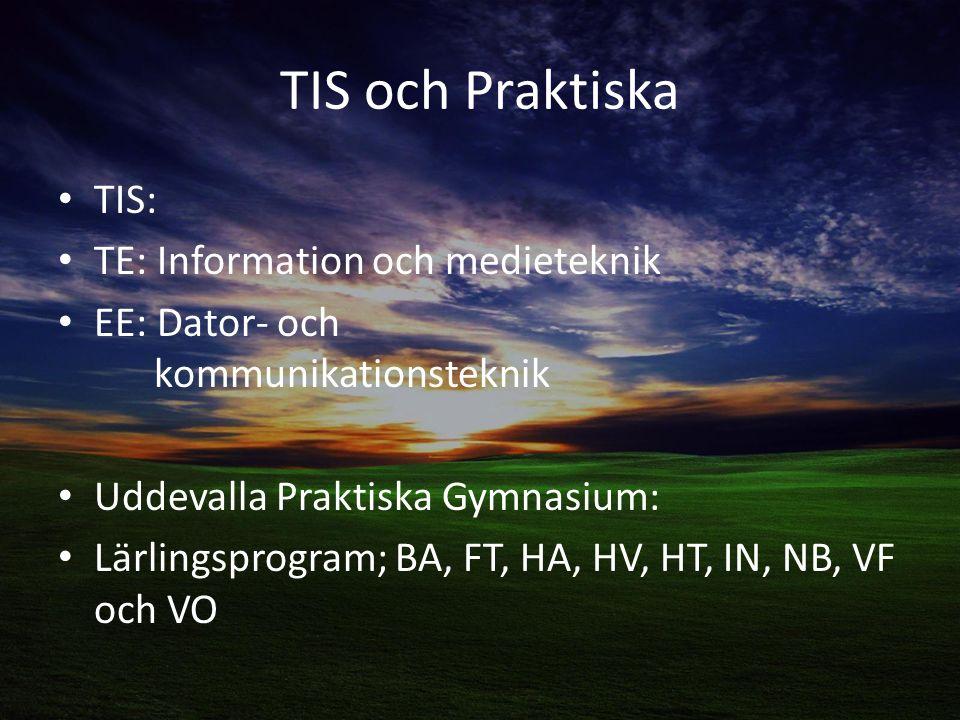 TIS och Praktiska TIS: TE: Information och medieteknik