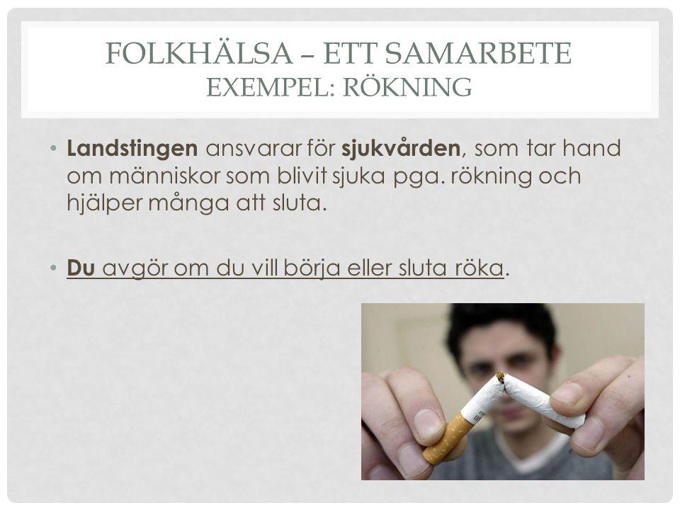 Folkhälsa – ett samarbete exempel: rökning