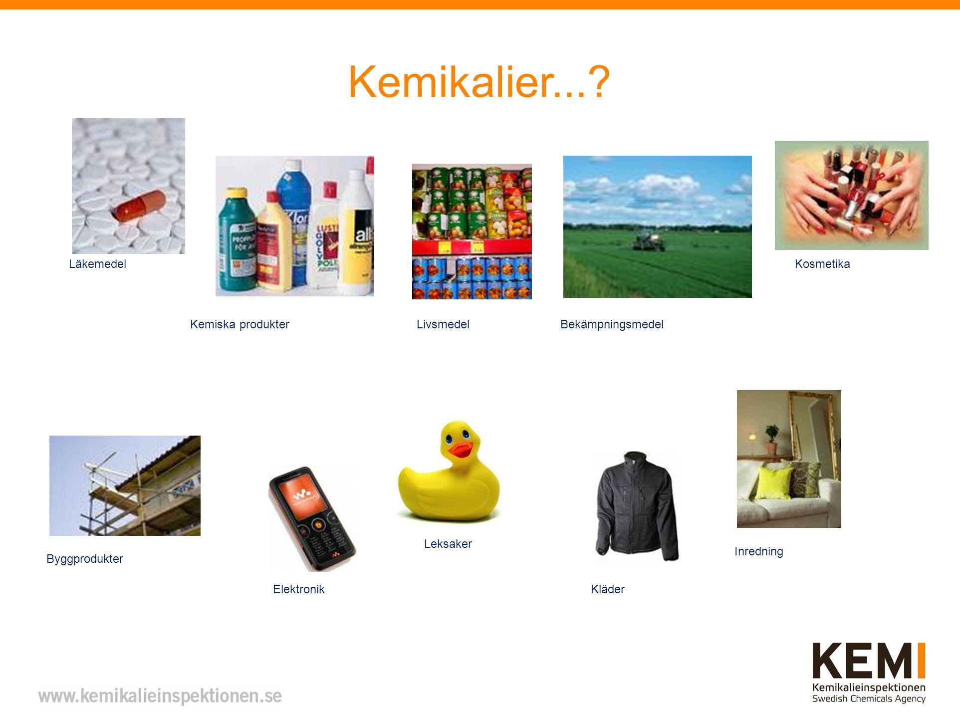 Kemikalier... Läkemedel Kosmetika Kemiska produkter Livsmedel