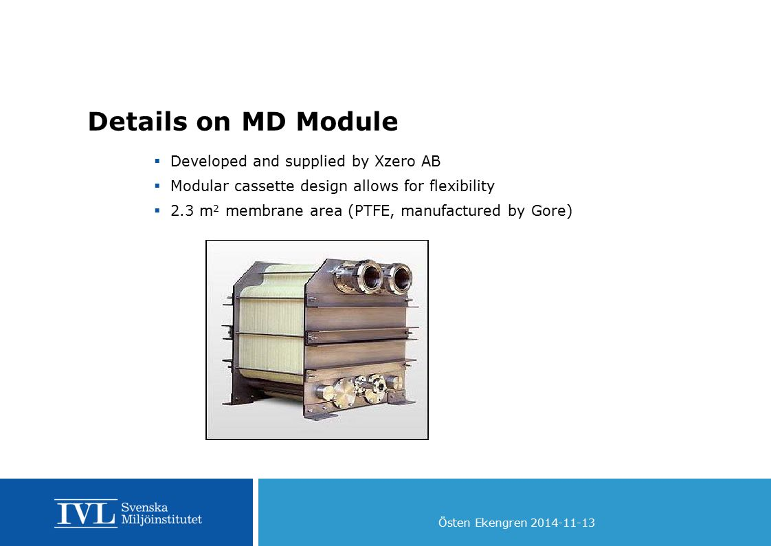 Details on MD Module Developed and supplied by Xzero AB