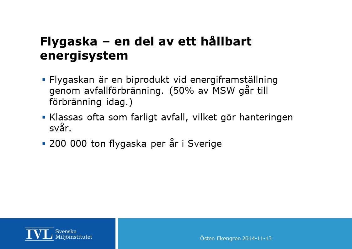 Flygaska – en del av ett hållbart energisystem