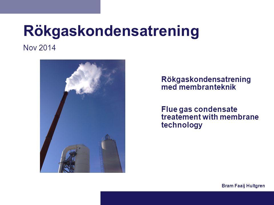 Rökgaskondensatrening