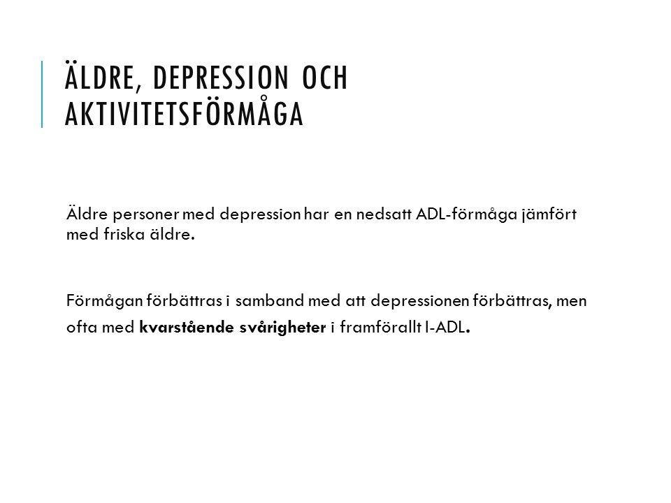 Äldre, depression och aktivitetsförmåga