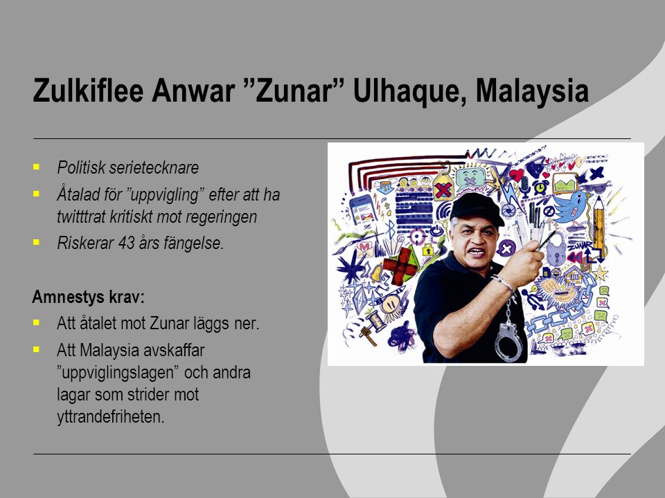 Zulkiflee Anwar Zunar Ulhaque, Malaysia