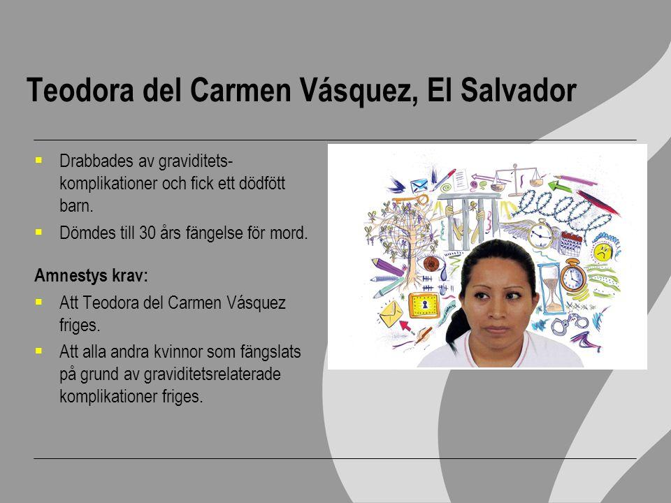 Teodora del Carmen Vásquez, El Salvador
