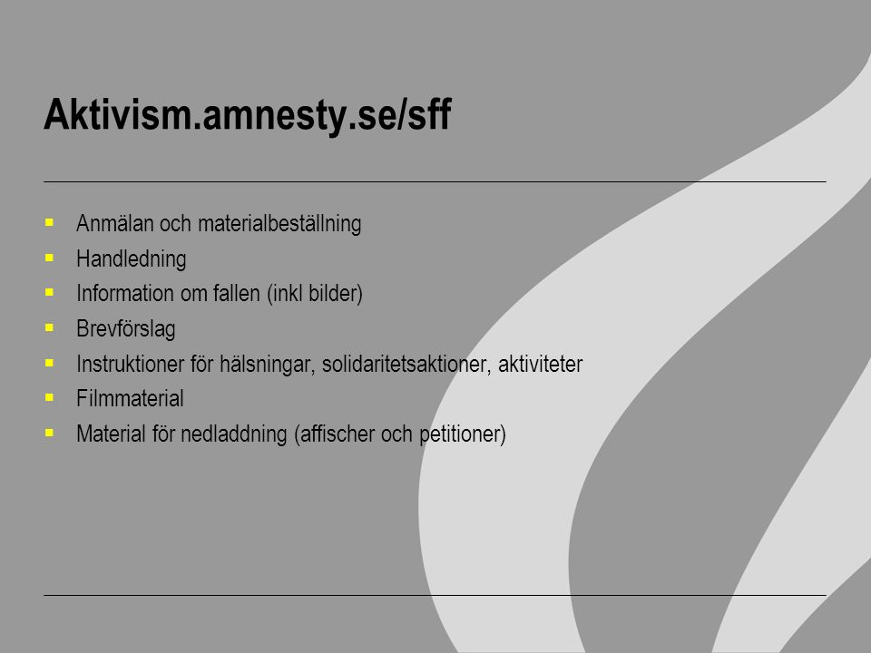 Aktivism.amnesty.se/sff