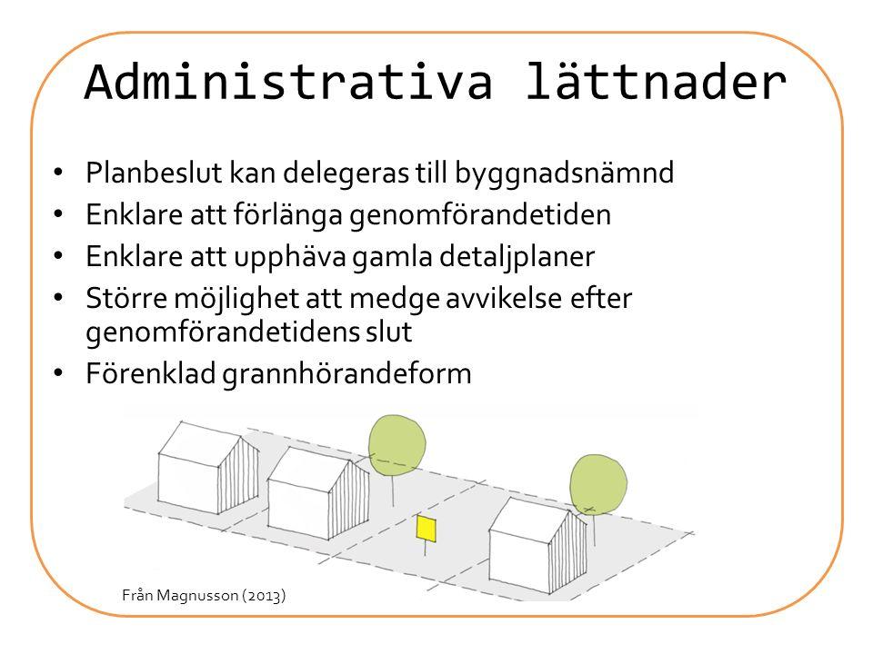 Administrativa lättnader