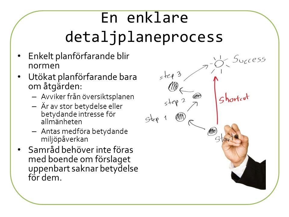 En enklare detaljplaneprocess