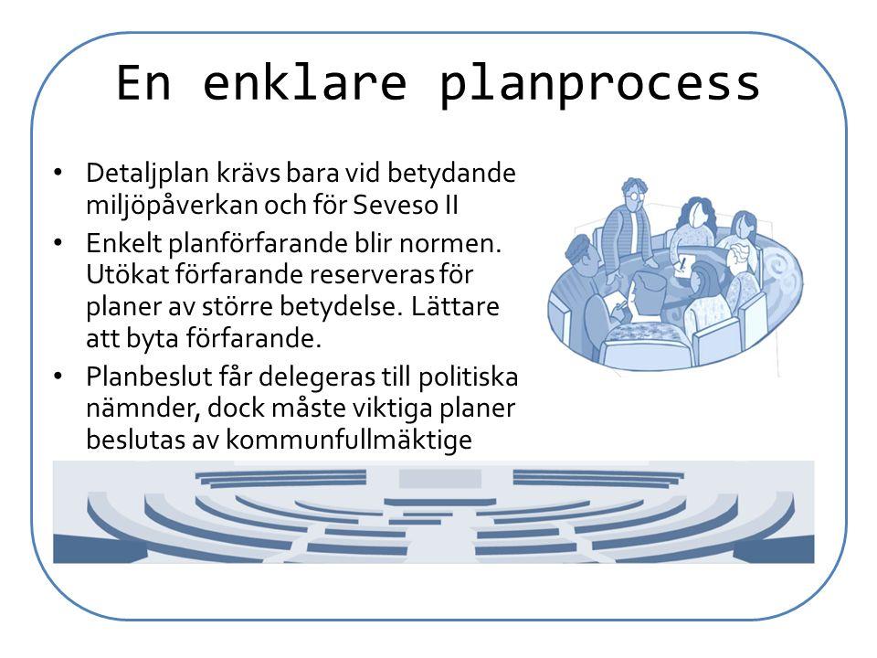 En enklare planprocess