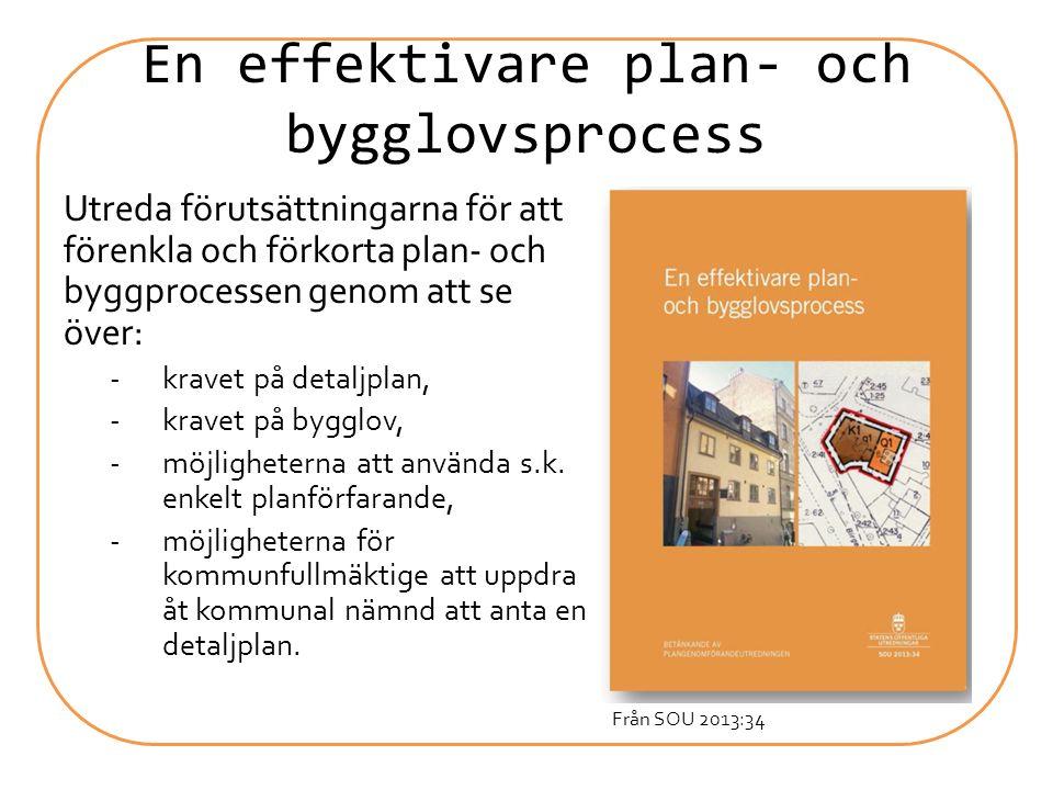 En effektivare plan- och bygglovsprocess