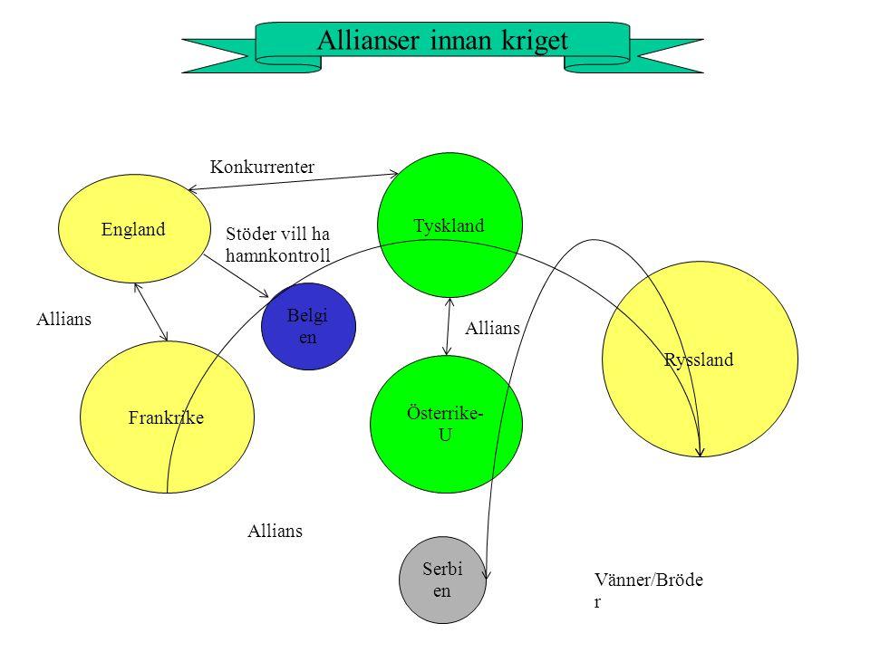 Allianser innan kriget