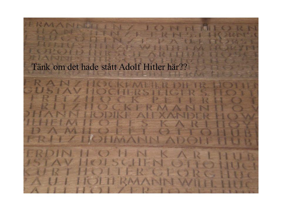 Tänk om det hade stått Adolf Hitler här