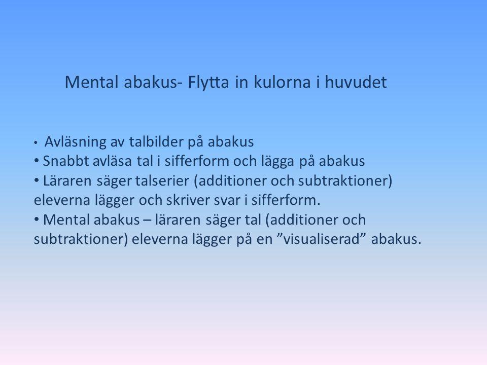 Mental abakus- Flytta in kulorna i huvudet
