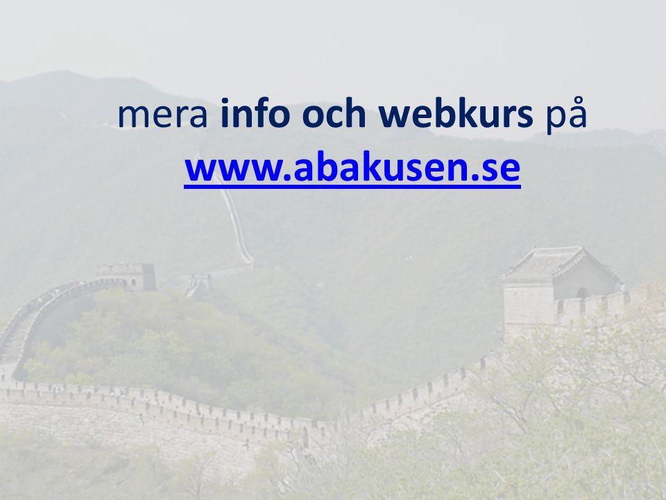mera info och webkurs på