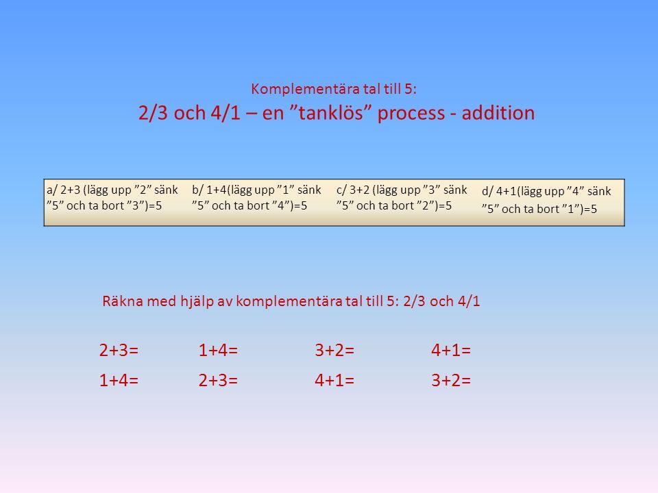 2/3 och 4/1 – en tanklös process - addition