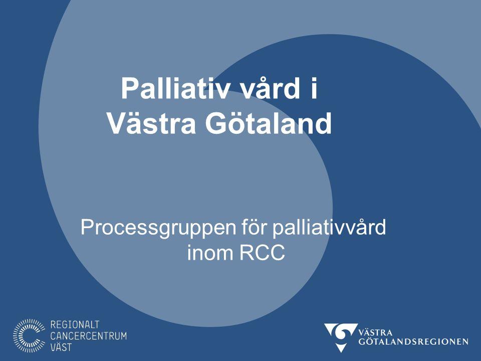 Palliativ vård i Västra Götaland