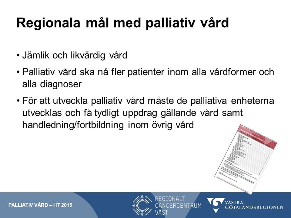 Regionala mål med palliativ vård