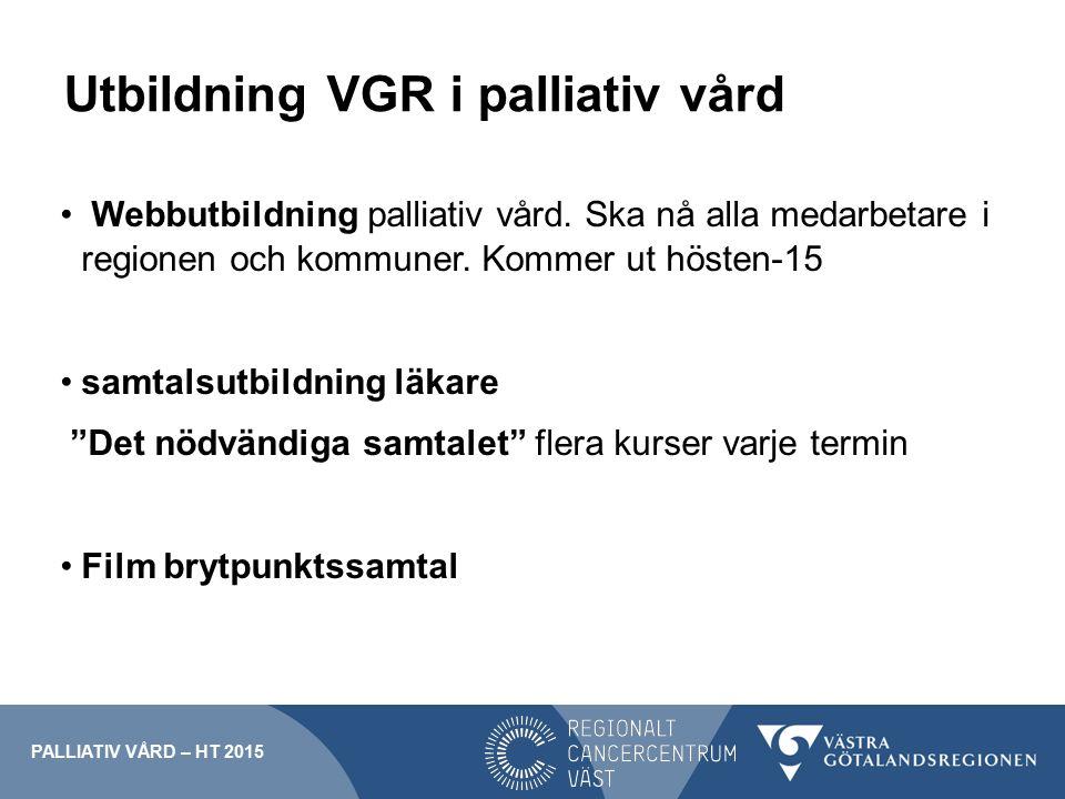 Utbildning VGR i palliativ vård