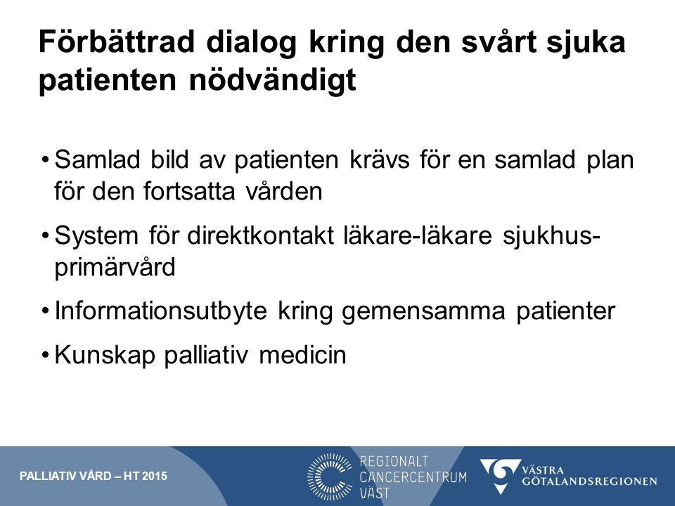 Förbättrad dialog kring den svårt sjuka patienten nödvändigt