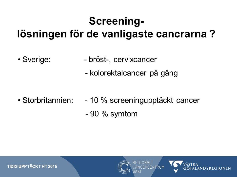 Screening- lösningen för de vanligaste cancrarna