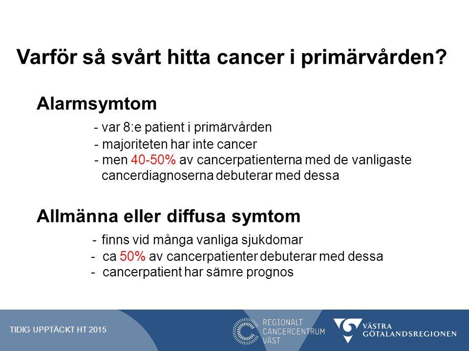 Varför så svårt hitta cancer i primärvården