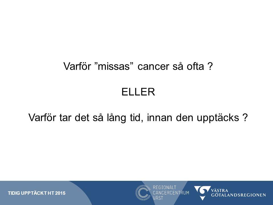 Varför missas cancer så ofta