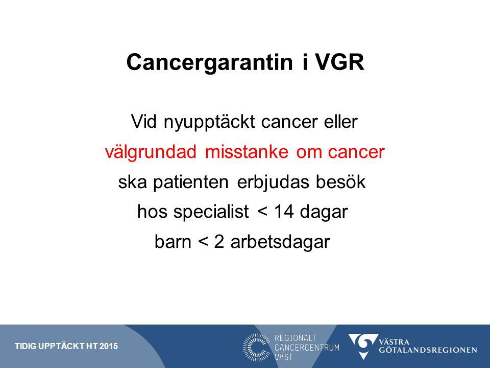 Cancergarantin i VGR välgrundad misstanke om cancer