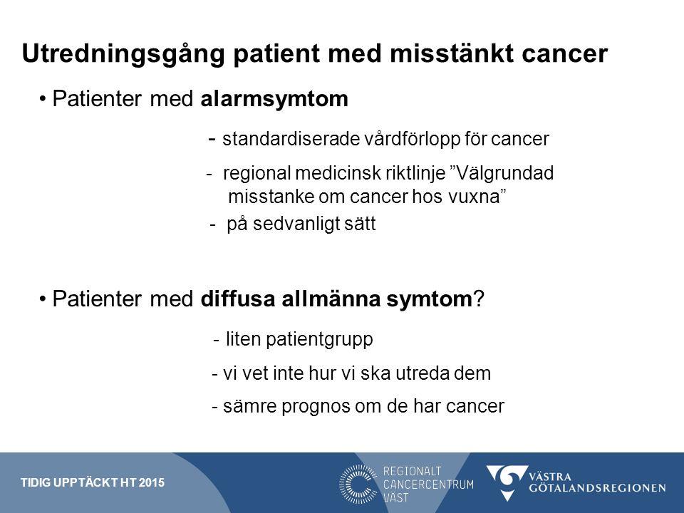Utredningsgång patient med misstänkt cancer
