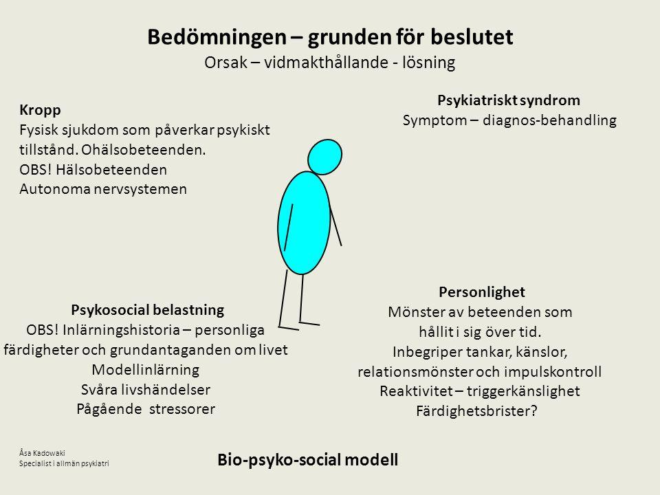 Bedömningen – grunden för beslutet Psykosocial belastning