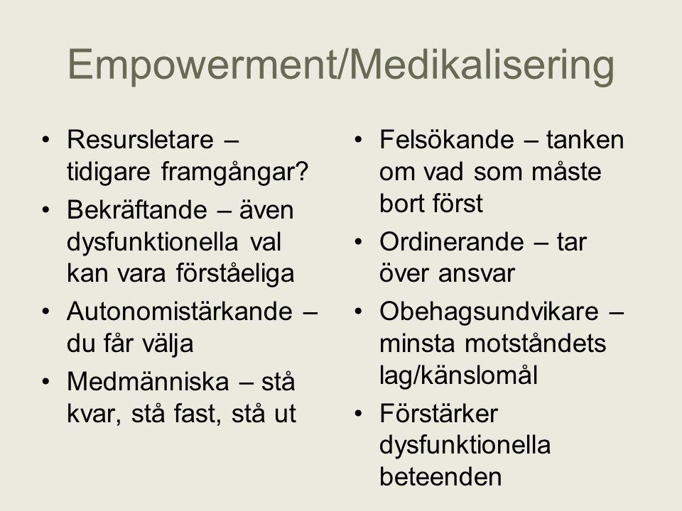 Empowerment/Medikalisering