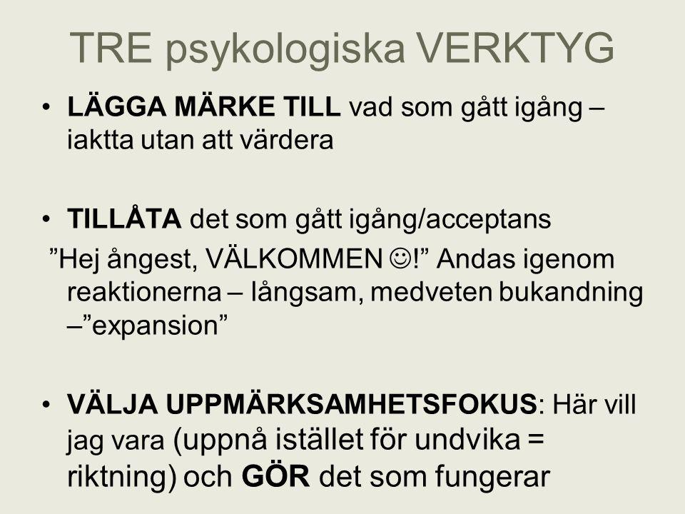 TRE psykologiska VERKTYG