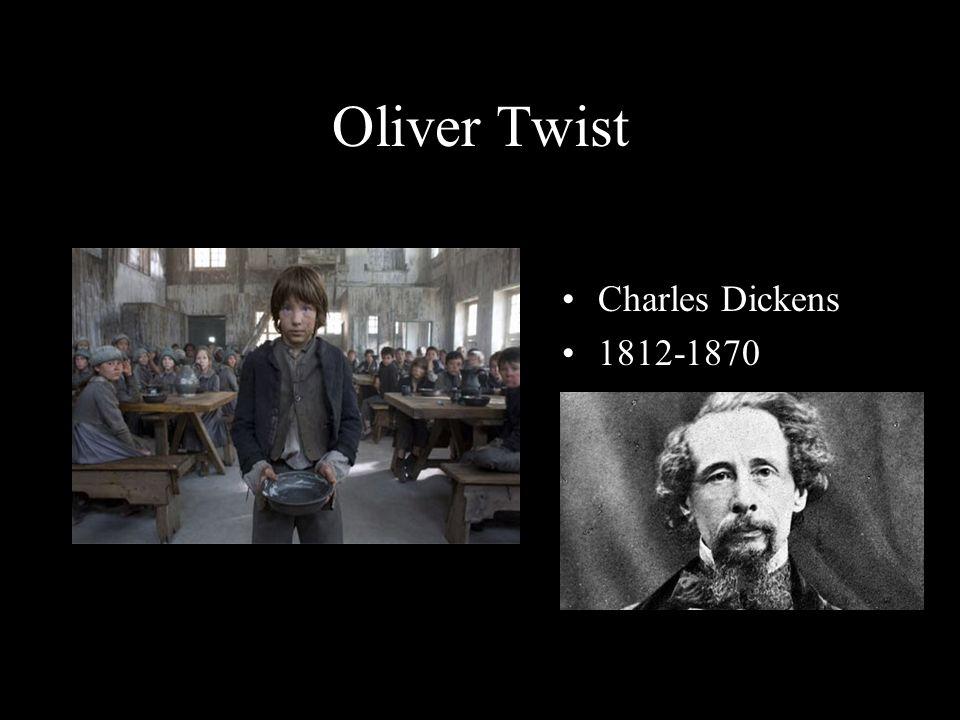 Oliver Twist Charles Dickens 1812-1870