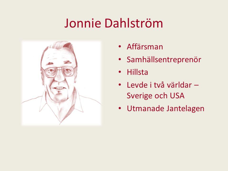 Jonnie Dahlström Affärsman Samhällsentreprenör Hillsta