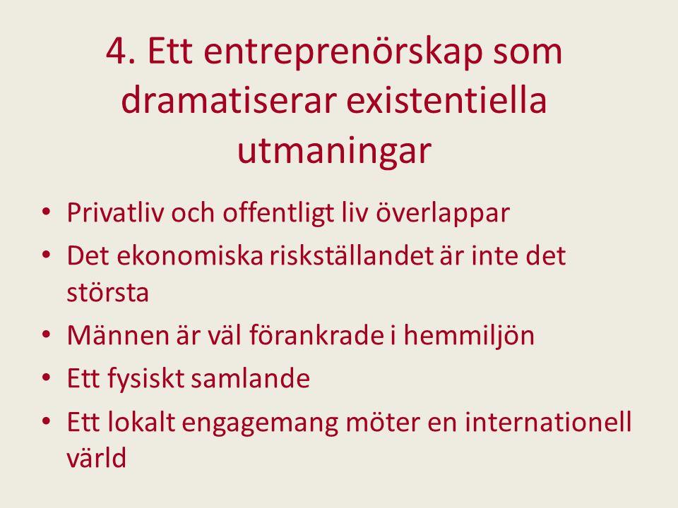4. Ett entreprenörskap som dramatiserar existentiella utmaningar