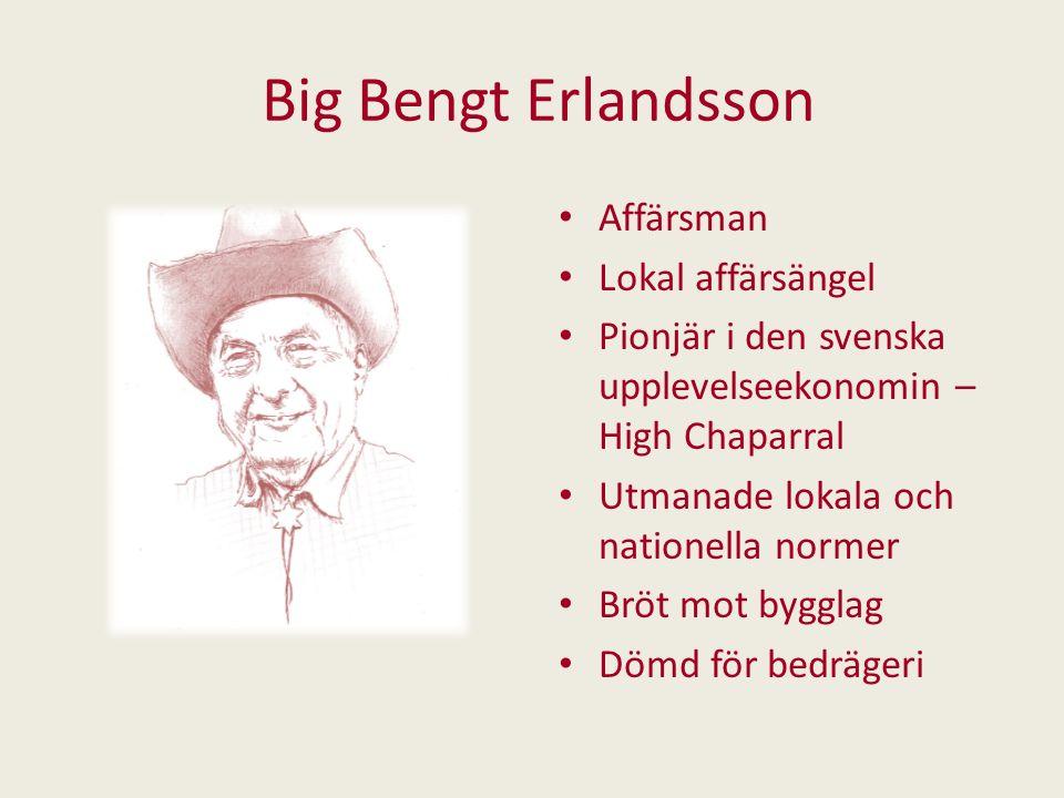 Big Bengt Erlandsson Affärsman Lokal affärsängel